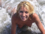 Anna en la playa. 100% caseras.
