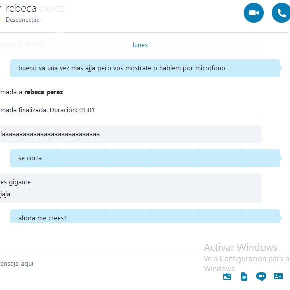 Skype: Charla Hot 1 (con fotos-material propio)