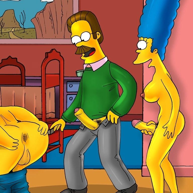 Comic porno futanari Los Simpson