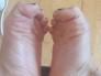 pies de mi hermosa novia