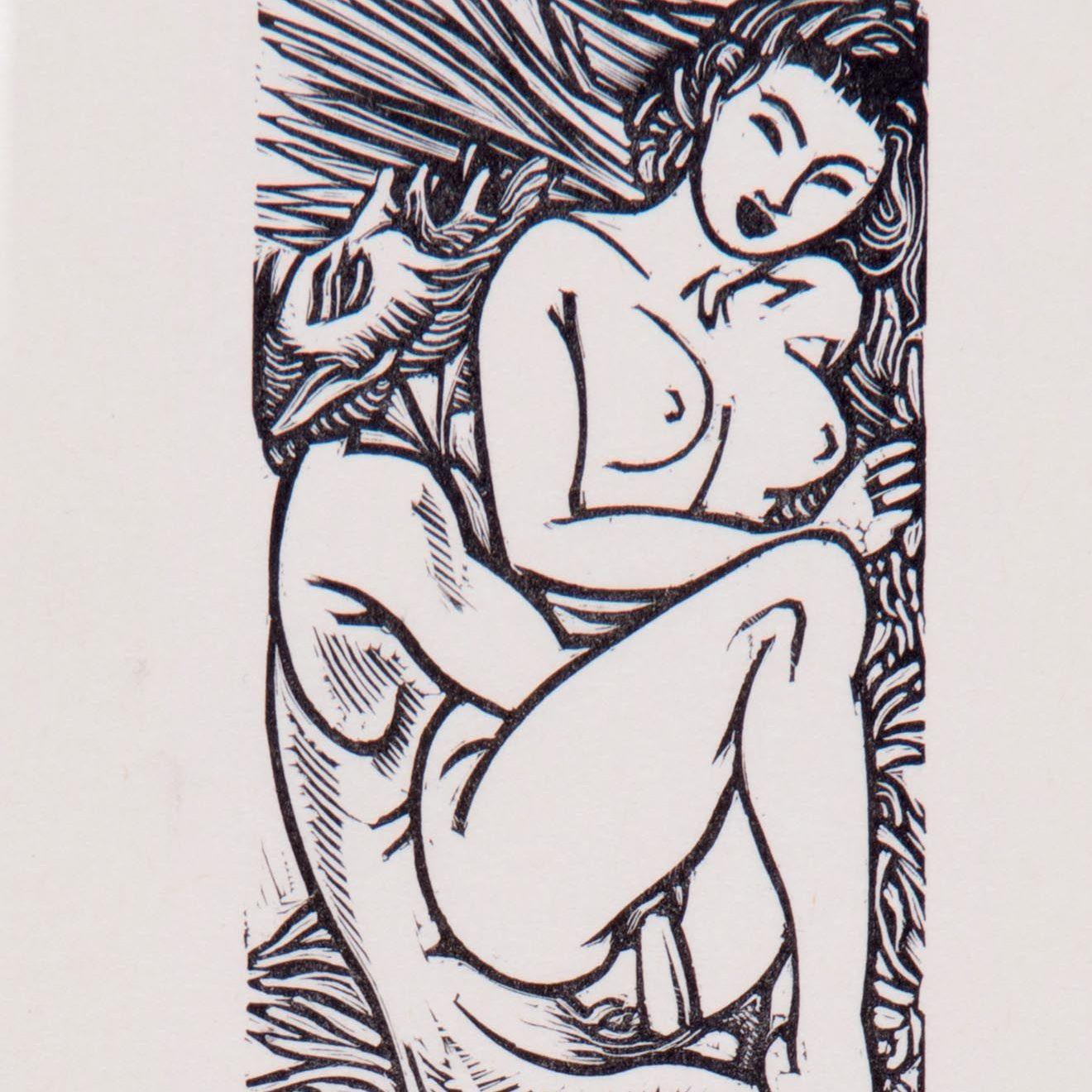 Ilustraciones eróticas por John Buckland Wright