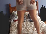 Modelo mis boxers y me caliento tanto que eyaculo