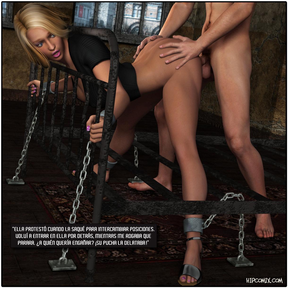 Comix: rubia secuestrada y penetrada